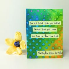 "$5 Quote Magnet   ""You are braver than you believe Stronger than you seem and Smarter that you think"""