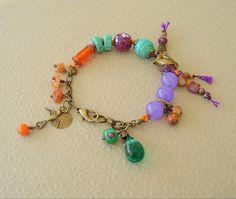 Pulsera boho Bohemia joyería joyería colorida joyas por BohoStyleMe, $68.00
