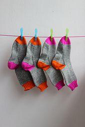 Ravelry: Patsy55's Broken Seed Stitch Socks {Neon Edition}