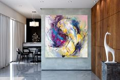 Items similar to Large Modern Wall Art Painting,Large Abstract wall art,painting colorful,xl abstract painting,canvas wall art on Etsy Large Abstract Wall Art, Large Canvas Art, Abstract Canvas, Painting Canvas, Large Painting, Painting Abstract, Wall Canvas, Acrylic Canvas, Texture Painting