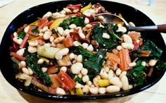 Feast Everyday: White Bean, Bacon and Swiss Chard Casserole