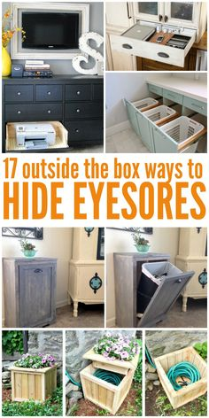 17 Outside the Box Ways to Hide Eyesores in Your Home - One Crazy House