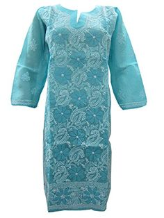 Indo-boho Paisley Floral Embroidered Picton Blue Cotton Tunic Kurti Small Mogul Interior http://www.amazon.com/dp/B00NN5ZHLQ/ref=cm_sw_r_pi_dp_.TEgub07NSBWN