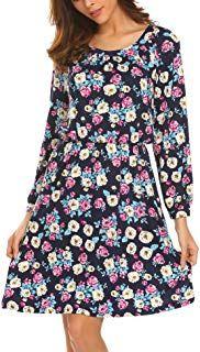 ONLY Kleid BRILLIANT DRESS Damen Midi Kleid Streifen Design DUNKELBLAU WEISS NEU
