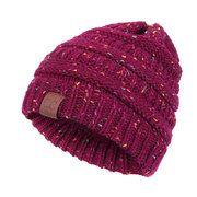 High-quality Women Men Warm Soft Knitting Bonnet Hats Winter Outdoor Snow Leisure Stripes Casual Beanie Cap - NewChic Mobile