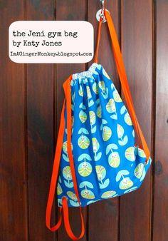 Fat Quarter Gang Tutorial - The Jeni Gym Bag by Im A GingerMonkey