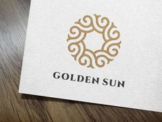 Golden Sun Logo by IKarGraphics on @creativemarket