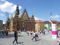 Im Sommer am Ring (Rynek) in Breslau (Wroclaw)
