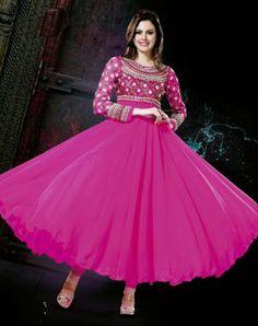 Amazing Pink Color Georgette Indian Churidar Kameez DLSS1316. Sale : $133.00