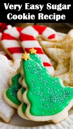 This is very easy sugar by Samantha Merritt from Sugar Spun Run. Doesn't spread when baking, the dough is easy to roll and to work with, a simple, versatile vanilla sugar cookie. This is a simple and for cookie frosting and sugar cookies. Cookie Batter Recipe, Cookie Frosting Recipe, Frosting Recipes, Cookie Recipes, Yummy Recipes, Icing Recipe, Simple Recipes, Meal Recipes, Delicious Desserts
