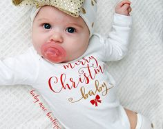 Merry Christmas Baby, Baby Girl Christmas Outfit, Baby's First Christmas