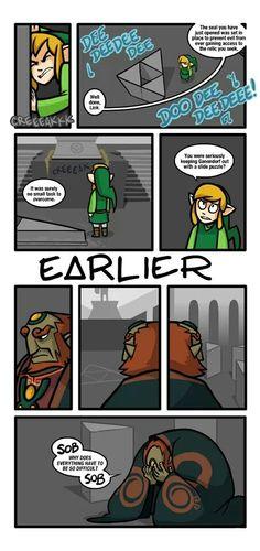 Slide puzzles. The ultimate barrier of evil  in legend of Zelda.