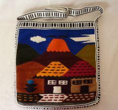 Vintage Handmade Wool Shoulder Bag from Ecuador -Ethnic Travel Souvenir Travel Souvenirs, Ecuador, Shoulder Strap, Ethnic, Wool, Handmade, Bags, Etsy, Vintage