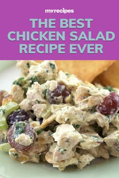 Our simple chicken salad recipe is as easy as it gets. Best Chicken Salad Recipe, Chicken Recipes, Broccoli Rice Casserole, Sandwich Fillings, Recipe For Mom, Rotisserie Chicken, Us Foods, Greek Yogurt, Mayonnaise