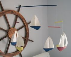 sailboat mobile - if we have a boy I think this is what I want to do for a mobile