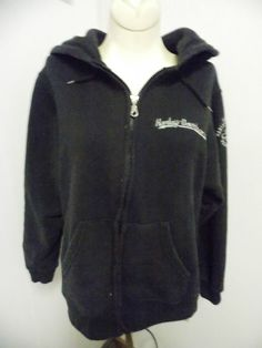 Harley Davidsons Womens Size Medium Hoodie Jacket Black