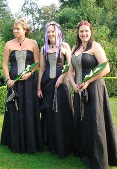 Steampunk Bridesmaid Dresses... Wedding ideas for brides, grooms, parents & planners ... https://itunes.apple.com/us/app/the-gold-wedding-planner/id498112599?ls=1=8 … plus how to organise an entire wedding, without overspending ♥ The Gold Wedding Planner iPhone App ♥