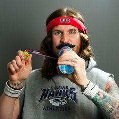 Beardo BeerMo Bottle mustache.