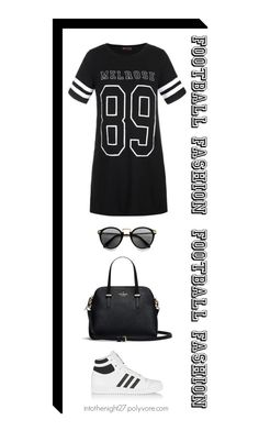 """#104 - Game On! Fun Football Fashion"" by intothenight27 ❤ liked on Polyvore featuring Ally Fashion and adidas Originals"