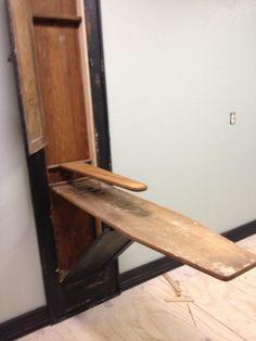 diy built in ironing board on pinterest ironing boards. Black Bedroom Furniture Sets. Home Design Ideas