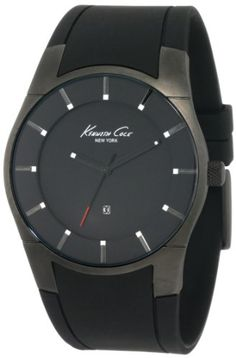 Kenneth Cole New York Men's Super-Sleek Collection Polyurethane Strap Watch #KC1557: Watches: Amazon.com