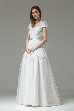 Katya Katya Shehurina Feather Collection, Romana Wedding Dress | www.onefabday.com