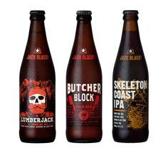 Jack Black Beer Labels by Daniel Goodman, via Behance