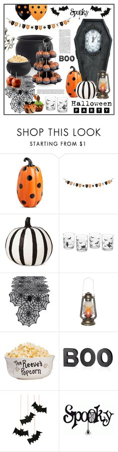 """""""Halloween Party"""" by tawnee-tnt ❤ liked on Polyvore featuring interior, interiors, interior design, home, home decor, interior decorating, Improvements, Williams-Sonoma, Design Imports and Crate and Barrel"""