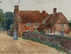 English Cottage Painting by Frederick Childe Hassam 1890 Broadstairs, England