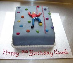 Sports and Novelty Cakes - Park Pantry, Bakewell Rock Climbing Cake, Climbing Wall, 9th Birthday Cake, Birthday Ideas, Timmy Time, Big Cakes, Character Cakes, Cakes For Men, Novelty Cakes