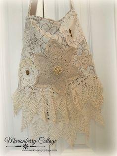 Vintage crochet and lace Gypsy boho  handbag