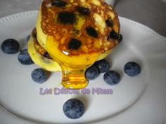 Blueberry pancakes au Golden Griddle Syrup (Delhaize) pour l'Independence Day