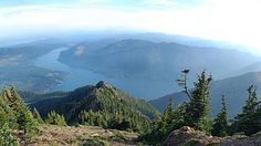 View of Lake Cushman from above