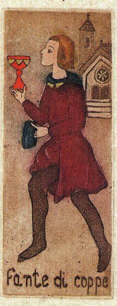 Page of Cups - La Corte dei Tarocchi