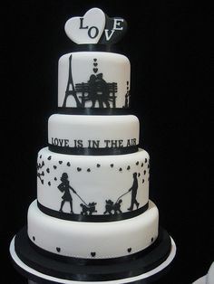 Black and white cake - love it!