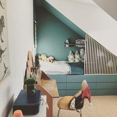 Cama Malm Ikea, Ikea Loft Bed Hack, Teen Boy Rooms, Modern Kids Bedroom, Diy Bed, Bedroom Bed, Home Remodeling, Kids Room, Toddler Bed