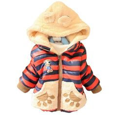 Toddler Baby Girl Boy Kid Winter Coat Two-Sided Thick Hoodie Outerwear Jacket ED