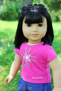 Hairstyle for dolls with short hair, or girls with short hair!