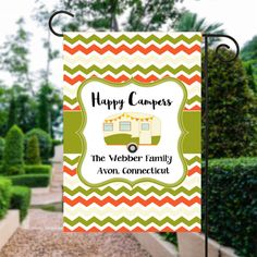 Happy Campers Flag  Camping Flag  Camp Flag  Glamping