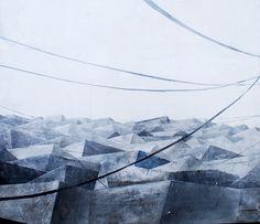 "Marta Galisz ""Dachy 3"" malarstwo / pejzaż / painting / landscape"