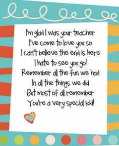 Stellar Students: A Little Inspiration and a couple of End of School Year Ideas