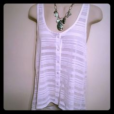 Sheer button down tank! Cute!!! Tops Tank Tops