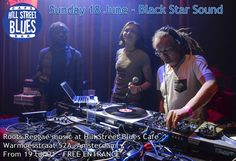 Flyer voor Black Star Sound in Hill Street Blues Café (Amsterdam)