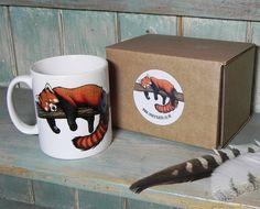 Red Panda Illustration Mug