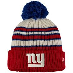 New Era New York Giants Traditional Cuffed Knit Hat Nfl Gear ff4d0adb0914