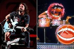 Dave Grohl Battles Animal on Drums