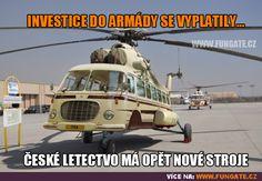 Investice do armády se vyplatily. Good Jokes, Funny Jokes, Haha, Politics, Memes, Air Force, Pictures, Husky Jokes, Ha Ha