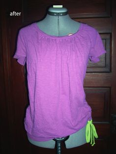 This purple long sleeve t-shirt was handed down to me, I've had it for, oh, about 3 years & have never worn it. It's pretty shapeless & bori...