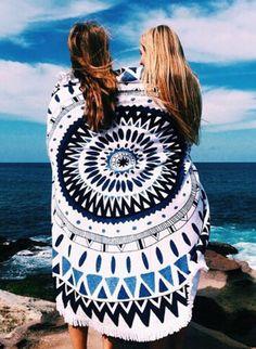 Aztec Print Round Beach Towel – Sweat In Fashion