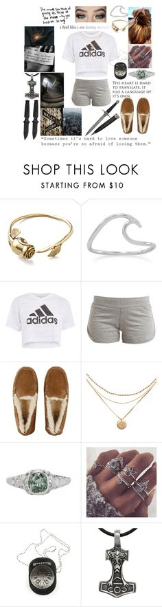 """""""Pre-party chill"""" by surfinsunshine ❤ liked on Polyvore featuring Monserat De Lucca, Topshop, adidas, UGG, WALL, Love Quotes Scarves and Carolina Glamour Collection"""